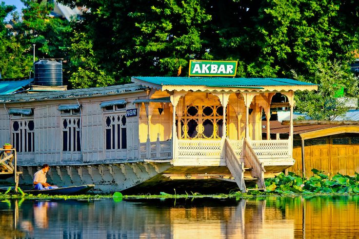 The #sun glow #view of Akbar #Houseboat in Dal Lake #Srinagar at your glance!!