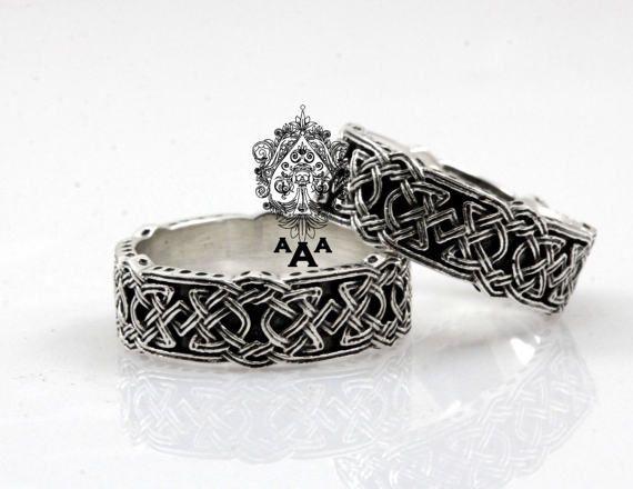 Bague noeud celtique bague celtique bijoux Viking argent