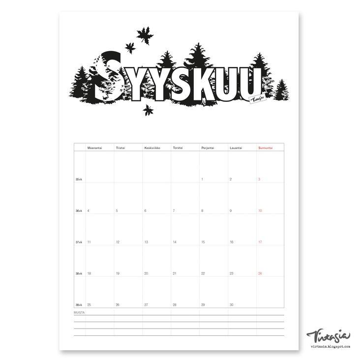 Ilmainen tulostettava syyskuun 2017 seinäkalenteri #ilmainen#tulostettava #kalenteri #2017 #syyskuu #free#print#calendar #September