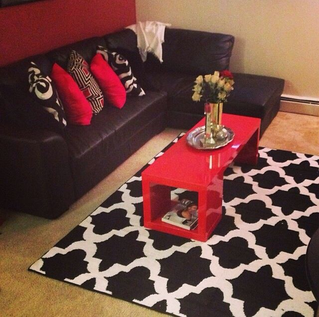 25+ best Red leather couches ideas on Pinterest Red leather - black and red living room ideas