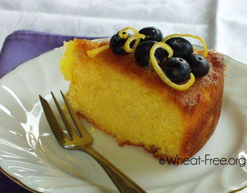 Gluten free Lemon Ricotta Cake recipe-almond-polenta
