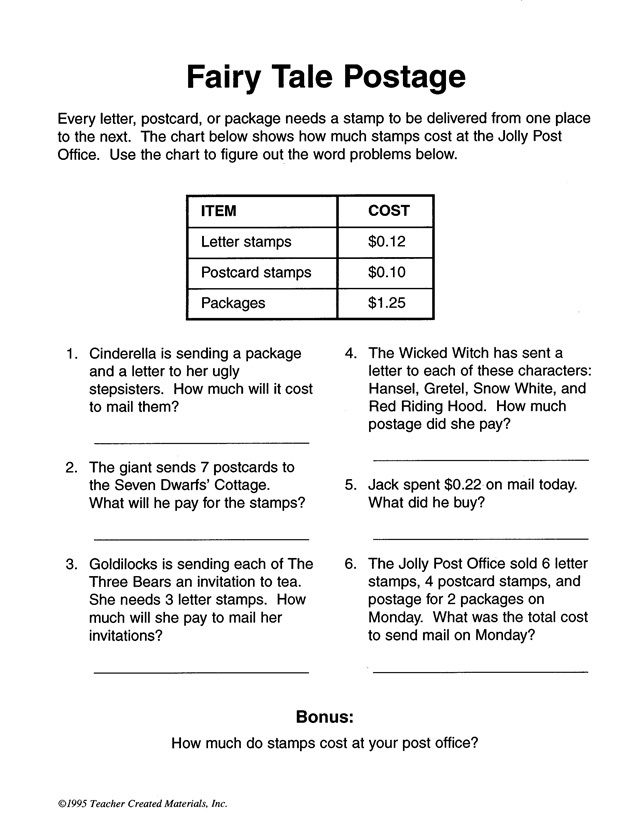 11 best My Content Area images on Pinterest Content area - sample word problem worksheets