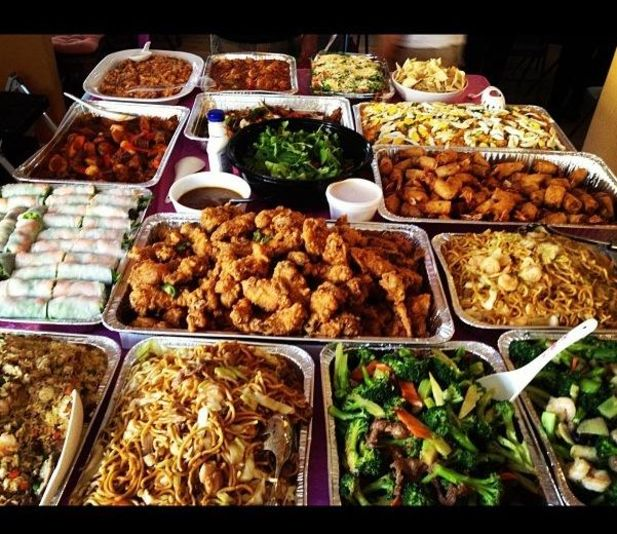 Typical Filipino Party Food=FOOD COMA!.... Very True! A