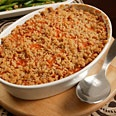 Epicurious: Sweet Potato Purée with Streusel Topping. Decadent and perfect for a holiday or special occasion dinner!