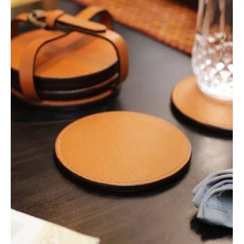Give your table a classy look with these leather-finish coasters available in many colors. Check out www.kraftsmen.in for more beautiful decoration items.  Price - ₹935 (Set of 6)  #homedecor #interiordesigning #organization #coasters   #kraftsmen  #prettyhomes  #essentials #table #decorations #caféessentials