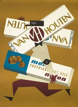 French chocolate poster for Van Houten
