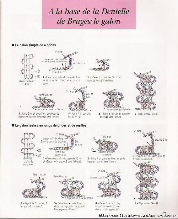 钩针——花边——比利时花边——图解 - Hello Kitty - 日月星晨