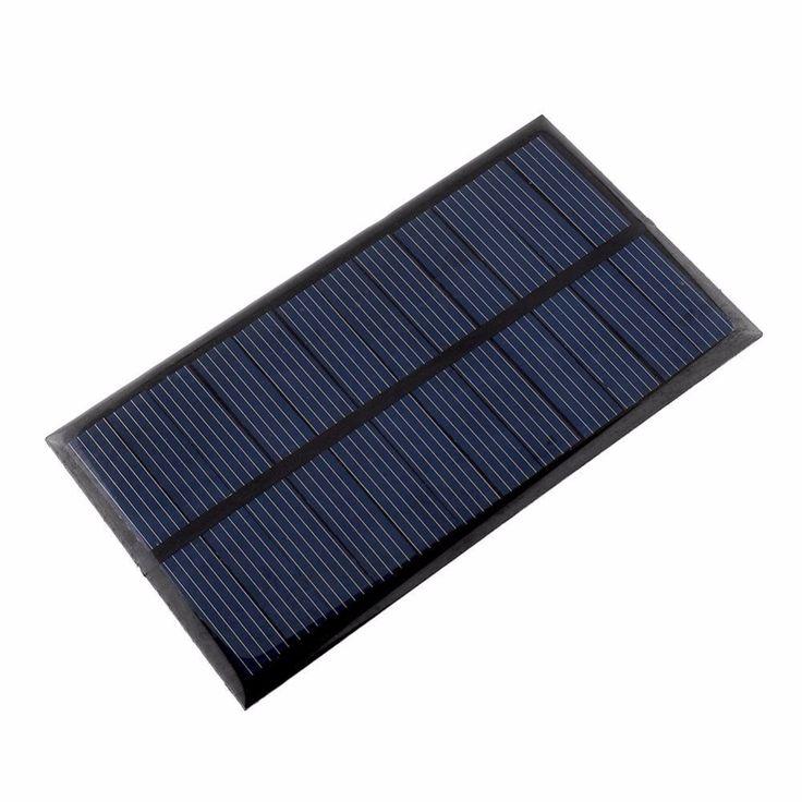 Portableミニ6ボルト1ワットソーラーパネル銀行太陽光発電パネルソーラーシステムモジュールホームdiyのための携帯電話充電器