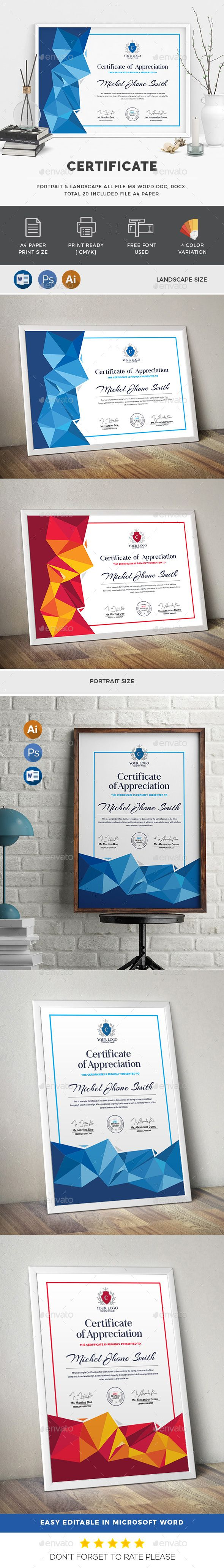 Certificate - Certificates Stationery Download here: https://graphicriver.net/item/certificate/19974161?ref=classicdesignp