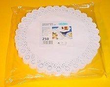 Tortenspitzen Ø 22 cm 250 Stück weiß Tortenspitze Kuchendeckchen Deckchen