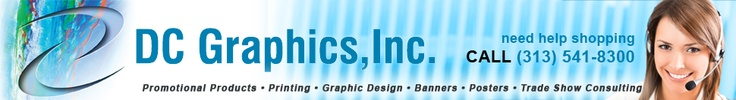 Trade show displays and promotional items for every business.  This is my BFFs business and I support my friends whenever I can. :-)  Visit shopdcgraphics.com or call (313) 541-8300