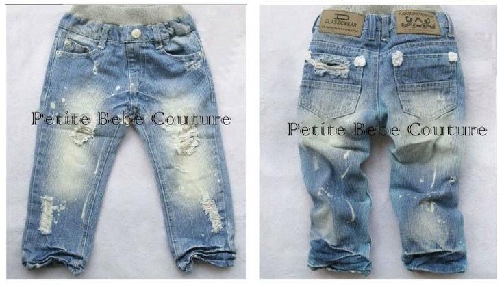 PbC- Boys Ripped Funky Jeans     www.petitebebecouturepage.aradium.com
