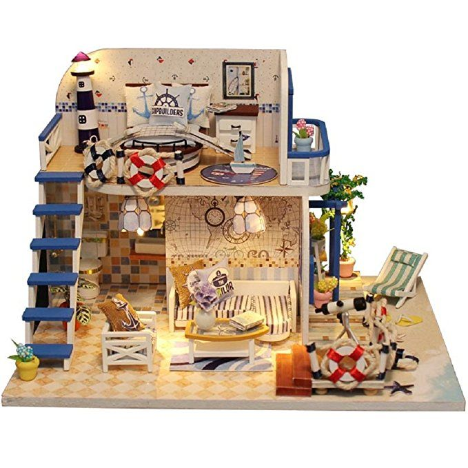 Model Building Girl Furniture Diy Miniature Doll House 3d Wooden Doll Houses Miniature Dollhouse Furniture Kit Aegean Sea Toy For Birthday Gift Easy And Simple To Handle Toys & Hobbies