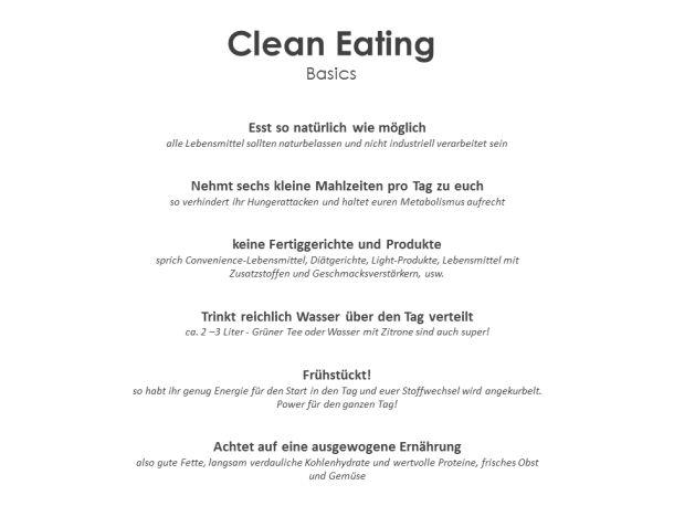 Clean Eating Rules