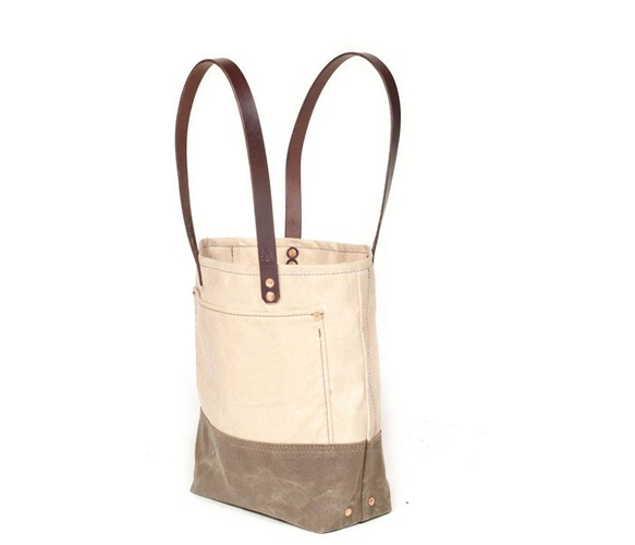 Bexar Waxed Canvas Totes  by Bexar Goods Make something similar with pnters drop cloth/canvas