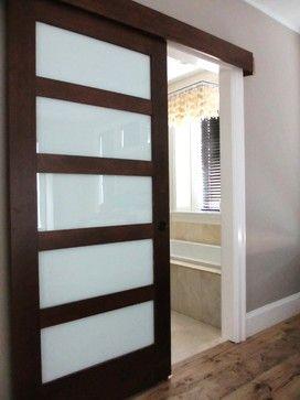 Shoji screen for bathroom door (bathroom with lots of natural light so it kind…