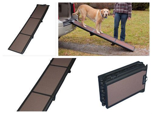 Pet-Ramp-For-Large-Dogs-Small-Car-Stair-Steps-Travel-Lite-Folding-Tri-Fold-Gear