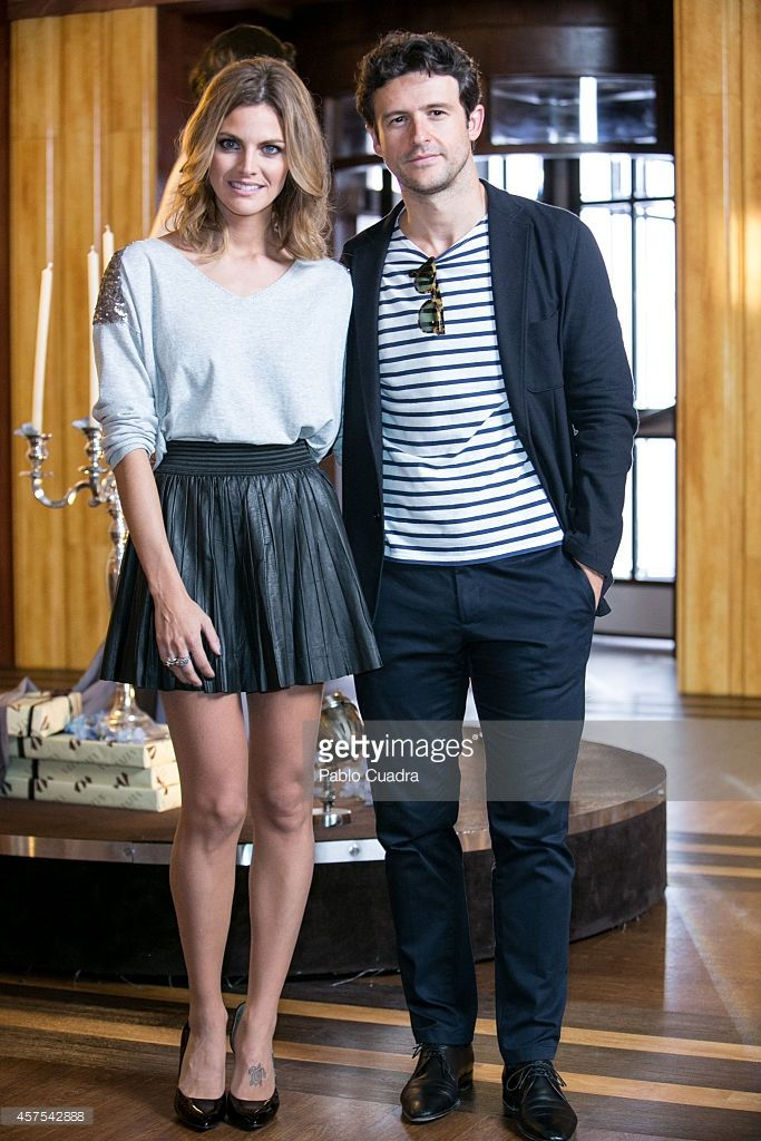 Spanish actress Amaia Salamanca (L) and actor Diego Martin (R) pose during a photocall to present the 2nd season of 'Velvet' at A3 studios on October 20, 2014 in Madrid, Spain.