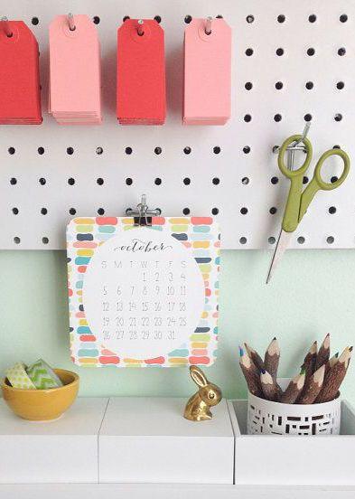 2014 Calendar - Wall or Desktop Calendar - 12 Month - Patterns - Shapes Illustrated Calendar