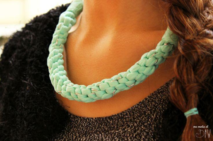 Como hacer un collar de trapillo diy jewelry inspiration - Como hacer trapillo ...