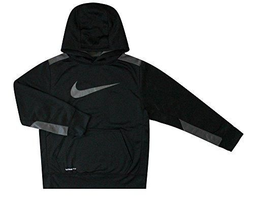 Nike Youth Boy's KO 3.0 Training Pullover Hoodie Black/Grey 853717 010 (s)