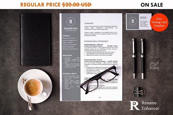 80% OFF SALE Resume Template  CVTemplate  AddOn CoverLetter