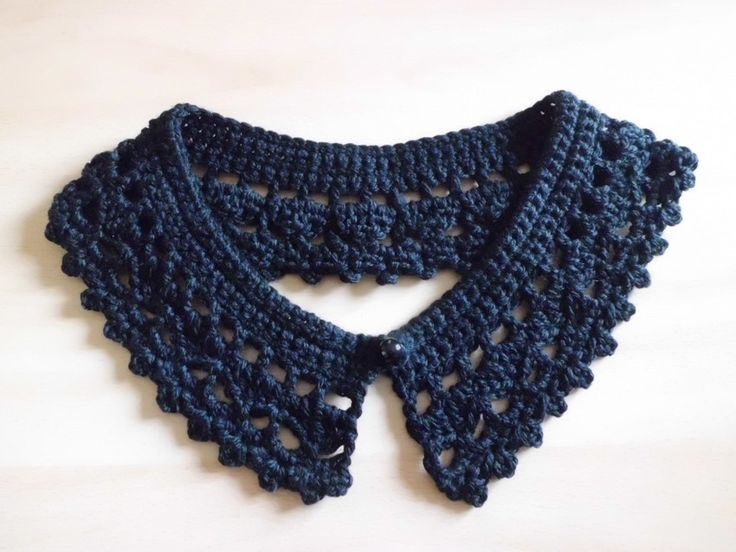 Mes cols Claudine Vintage , en suivant une grille gratuite !  - Bonnets et  Echarpes au Crochet
