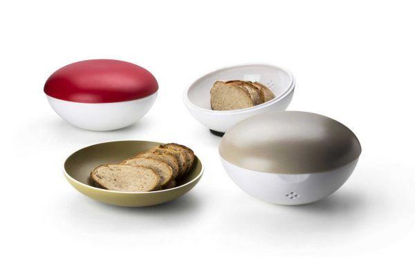 Continenta Keramik Brottopf mit Brotschale