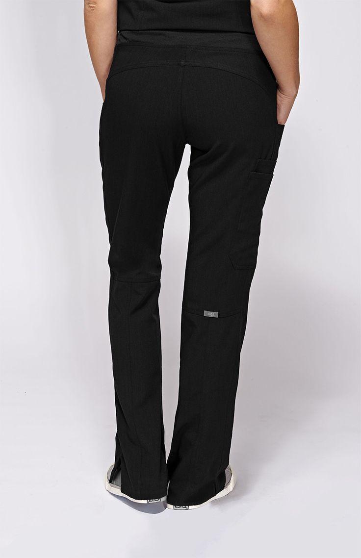 Womens Kade Cargo Scrub Pants-Black