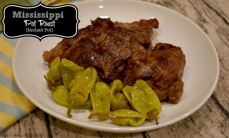I had a big 2.5 lb piece of pot roast in my freezer and I watched a show where they were making Mississippi Roast on TVso I decided to try this out to see if there was a real reason everyone was gahhing over it. …