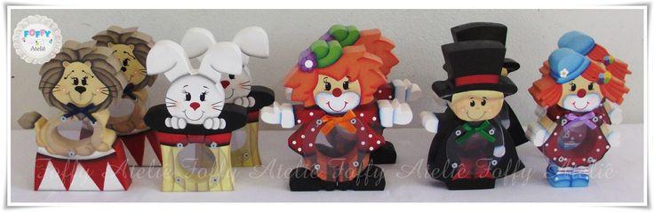 Mini Baleiros Circo para Lembrancinha. Orçamentos por e-mail: foffyartes@gmail.com