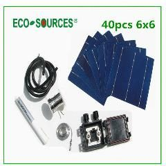 [ $18 OFF ] Hot Diy Solar Panel Kits 40Pcs 6X6 Inch Cell Solar Polycrystalline156 Solar Cell Price Tab Bus Flux Pen Junction Box Wire Price