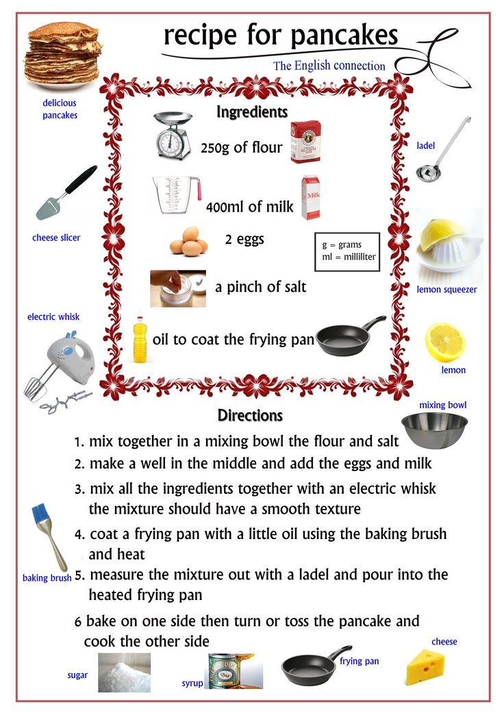 recipe for making pancakes with pictures & measurements, easy to read and understand and even more fun to do. Enjoy your pancakes. https://www.facebook.com/pages/Lynda-Jayne-Designs/128704893891601