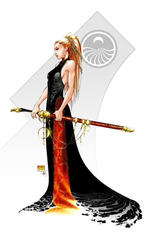 Female warrior - Hey, I'm in a tight dress with a long skirt dragging on the floor. I can totally move with combat-worthy mobility.
