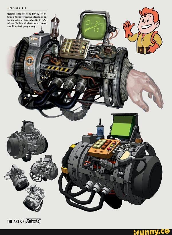 art, fallout, concept, pipboy