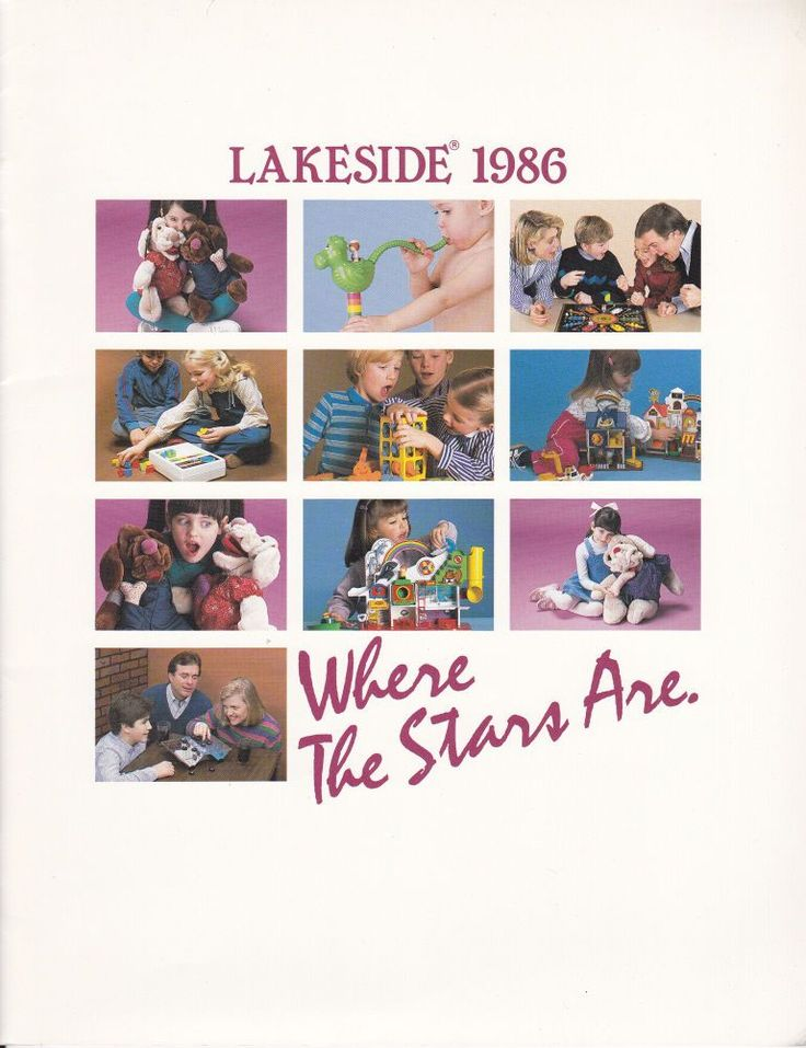 Lakeside Catalog 1986 Tub Town Barrel of Monkeys Stuff It! Kismet Wrinkles Dogs