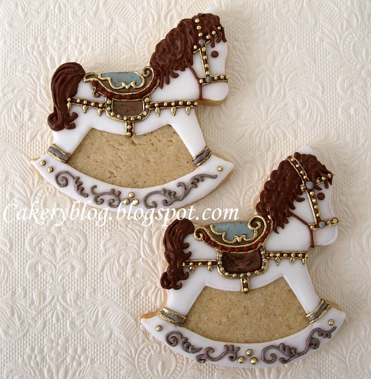 Rocking Horse cookies...so pretty!
