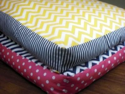 Giant Floor Pillows or Dog Beds DIY.  Would be great for camping
