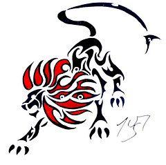 tribal lion tattoo