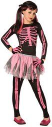 Tween/Teen Girl's Costume: Skeleton Punk, Pink-Large PROD-ID : 1171299