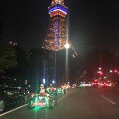 東京タワーのふもとでマリオカート軍団を発見しました 何のイベント 夏休みだから もしかしたらまだ都内を走ってるかも(-)/ 賑やかな走行でした(笑) tags[東京都]