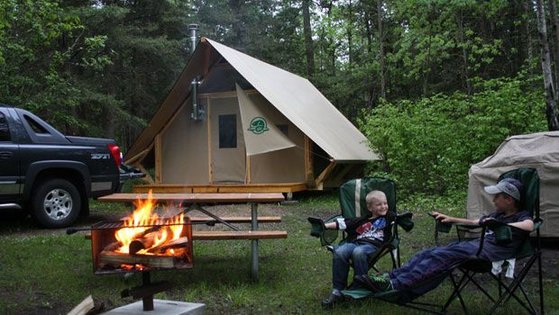 oTENTik in Riding Mountain National Park. A new way to camp. #exploremb