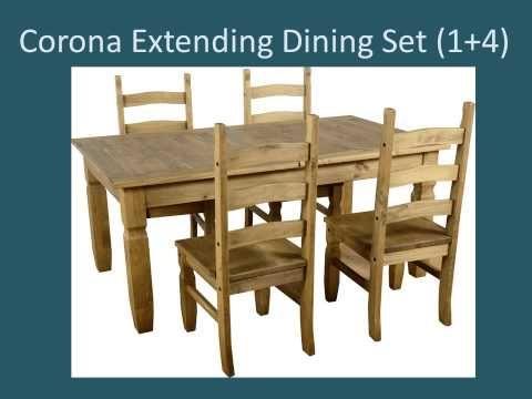 Corona Extending Dining Set 1+4