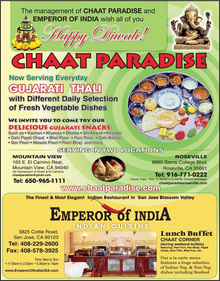 Exceptional Indian Website #7: BAZAAR: Chaat Paradise | Emperor Of India Chaat Paradise: Website:  Http://www.chaatparadise.com Phone: Mountain View: (650) 968-1111  Roseville: (916) ...