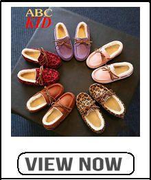 $10.99   Fleece Kids Shoes Chaussure Enfant Sapato Infantil Leopard Bow Warm Shoes Kids Loafers Winter Autumn Children Shoes KD301