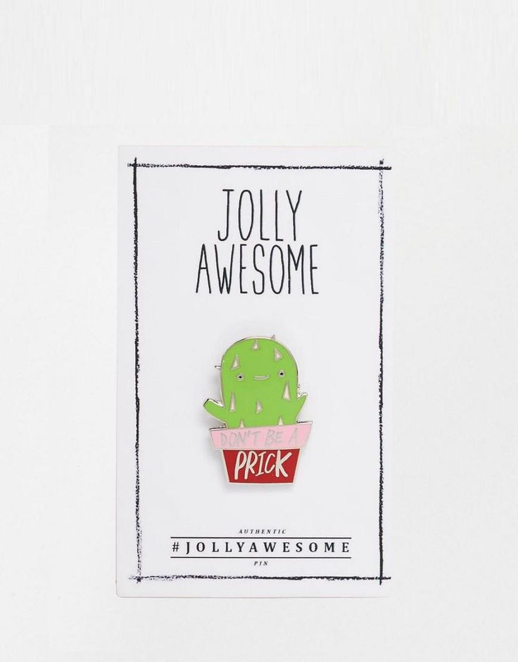 Jolly Awesome | Jolly Awesome - Spilla in smalto a forma di cactus su ASOS