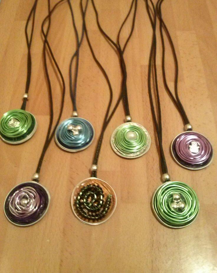collares con capsulas nesspreso diferentes colores a elegir...3 euros
