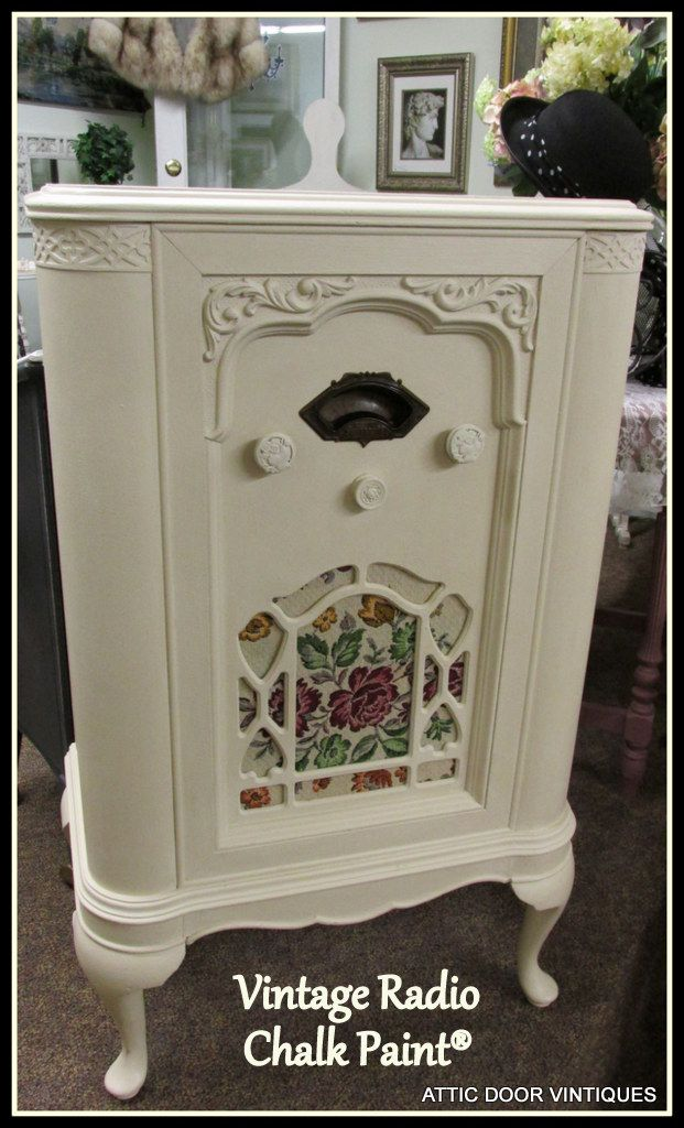 Vintage Radio Cabinet painted with Chalk Paint®.