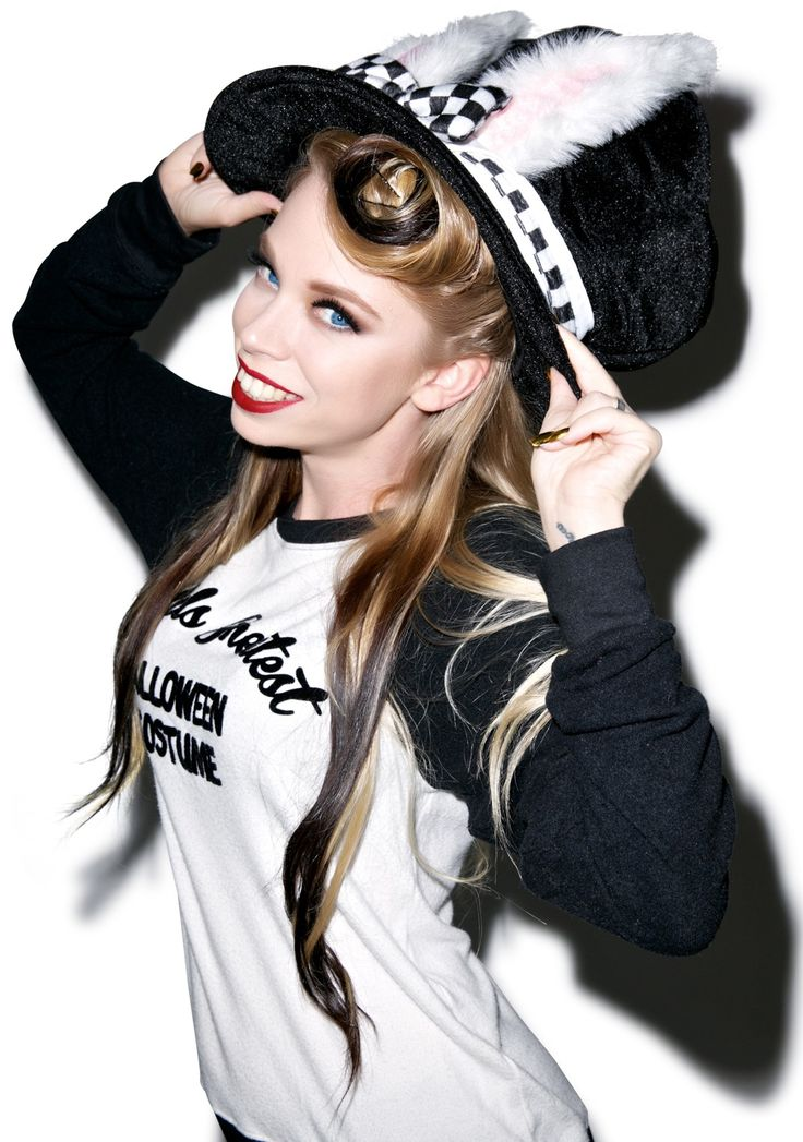 White Rabbit Top Hat GRAV3YARDGIRL BUNNY GRAVEYARD GIRL