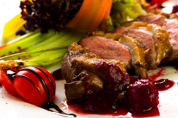 Duck baked with vegetables and herbs - Stock Photo - Images Download here : https://photodune.net/item/duck-baked-with-vegetables-and-herbs/20085775?s_rank=9&ref=Al-fatih